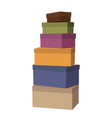 big pile of wrapped gift boxes decorated vector image