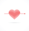 Heartbeat with Heart Shape vector image