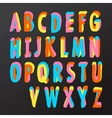Alphabet design in colorful style vector image