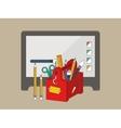 Web graphic design tools vector image