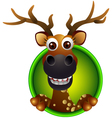 cute deer head cartoon vector image