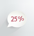 25 Off vector image