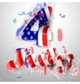 american flag for independence day vector image vector image