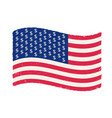 american flag with dollar signs vector image vector image