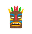 awesome rectangular african mask with multicolored vector image vector image