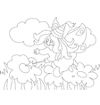 Beautiful cartoon fairy on the meadow For vector image vector image