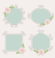 beautiful pink english roses on flourishing frame vector image