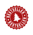 bestseller grunge stamp seal with fir-tree vector image