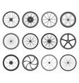 bicycle wheels set vector image vector image