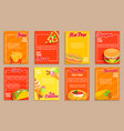 big set fast food shop flyersbanners vector image vector image