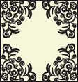 black design pattern vector image vector image