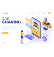 car sharing service concept vector image vector image