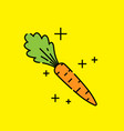 Carrot vegetable icon