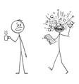 cartoon man office worker or businessman vector image