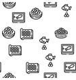 caviar seafood product seamless pattern vector image vector image