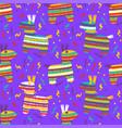 cinco de mayo seamles pattern with fiesta vector image vector image
