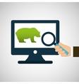 concept stock exchange bear icon design vector image