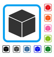 cube framed icon vector image