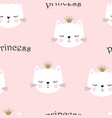 cute princess pattern vector image vector image