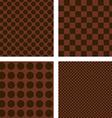 Dark brown geometric shape wallpaper set vector image vector image