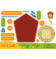education paper game for children cuckoo-clock vector image vector image