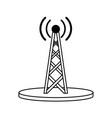 electronic signal antenna vector image vector image