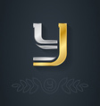 elegant gold and silver font Letter Y Template for vector image vector image
