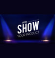 empty scene with stage curtain and spotlights vector image vector image