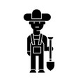 farmer icon sign on isolate vector image vector image