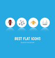 flat icon clothes set of foot textile clothes vector image vector image