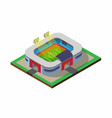 football soccer field sport stadium isometric vector image vector image