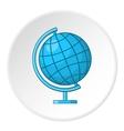 Globe icon cartoon style vector image vector image