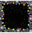 glowing garland vector image vector image