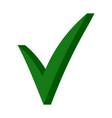 green 3d checkmark ok sign checkmark sign vector image vector image