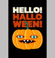 halloween typographical vintage style poster vector image