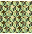 Hexagonal lines pattern Abstract 3d background vector image vector image