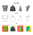 isolated object of cleaning and service symbol vector image vector image