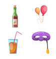 isolated object of party and birthday symbol set vector image
