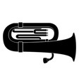 isolated tuba icon musical instrument vector image