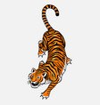japanese wild tiger asian cat top view fashion vector image vector image