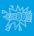 kaboom comic book explosion icon outline style vector image vector image