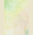 lemon green and yellow watercolor ink brush paper vector image