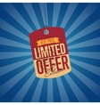 Limited offer isolated sale sticker vector image vector image