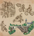 Luxembourg Travel - Hand drawn pack vector image vector image