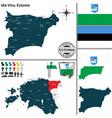 map of ida viru estonia vector image vector image