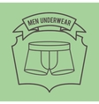 men underwear design vector image vector image