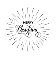 merry christmas text design card template vector image vector image