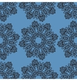 Ornamental seamless pattern on blue texture vector image vector image