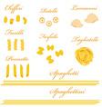 Pasta set vector image vector image
