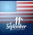 patriots day poster september 11th 2001 paper vector image